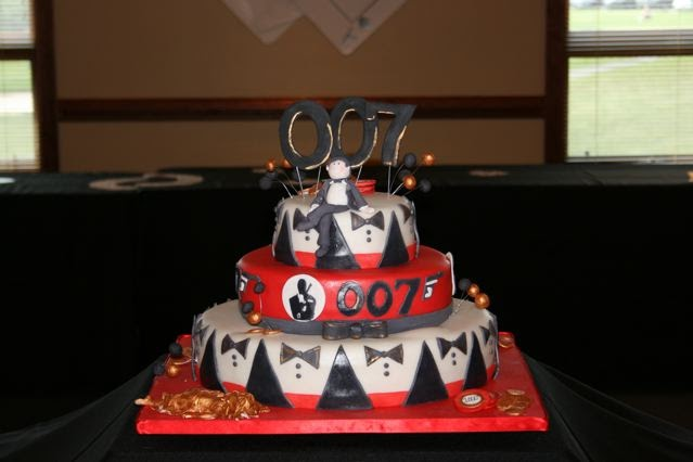 James Bond Themed Birthday Cakes
