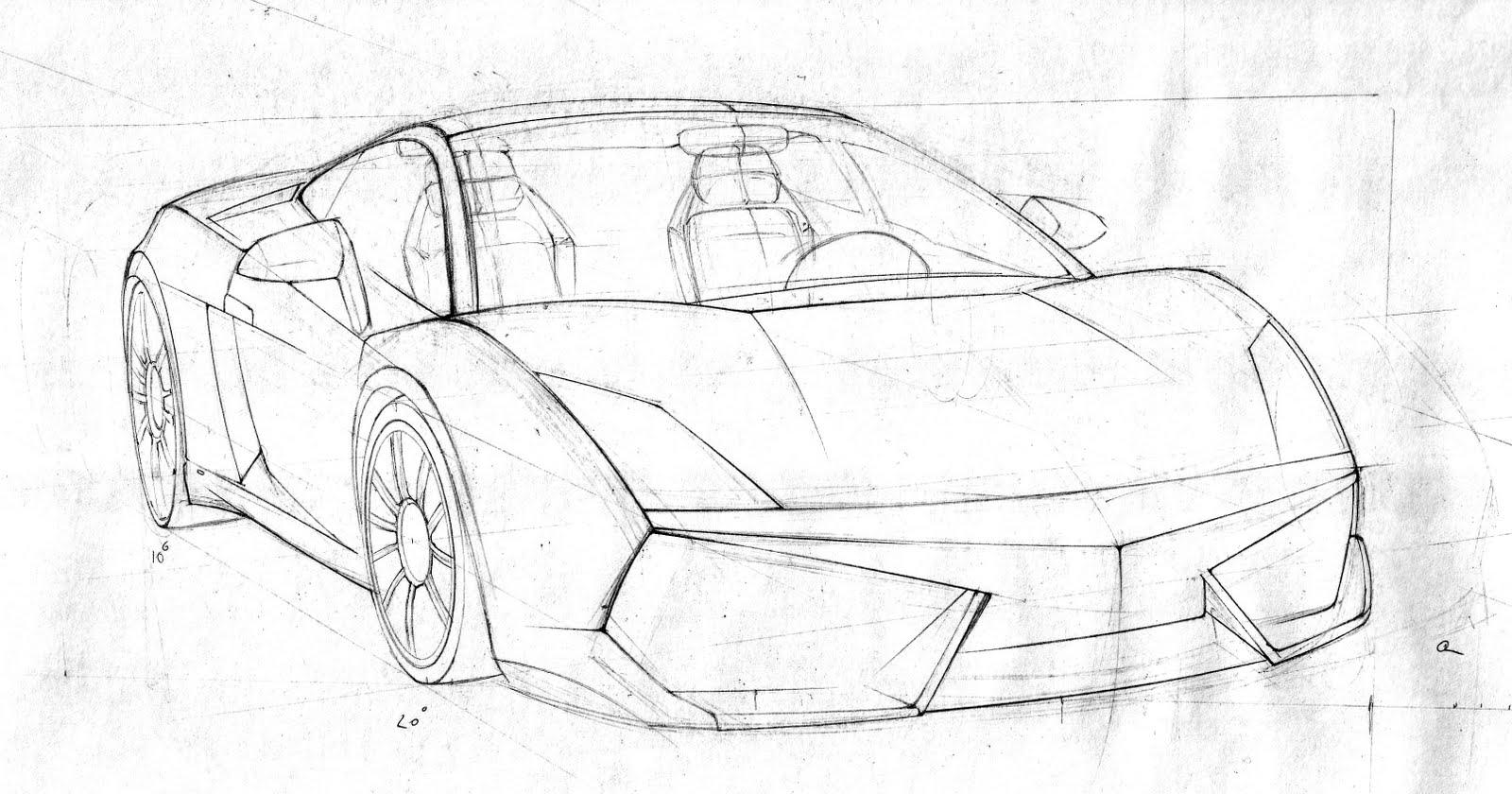 Un stylet et des crayons: Lamborghini Gallardo