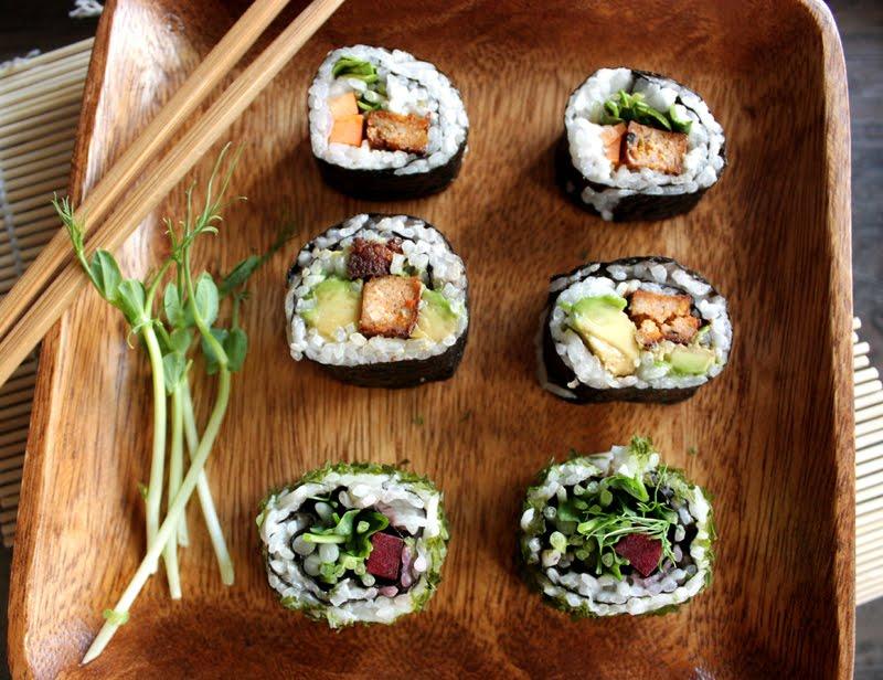 Oppskrift Sushi Vegansk Vegan Vegetarsushi Hvordan Lage Hjemmelaget Uten Fisk