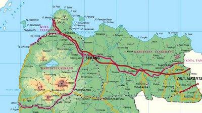 Gambar Peta Kab Serang Banten | GAMBAR PETA INDONESIA ...
