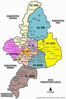 Gambar Peta Kota Kudus | GAMBAR PETA INDONESIA DUNIA ...
