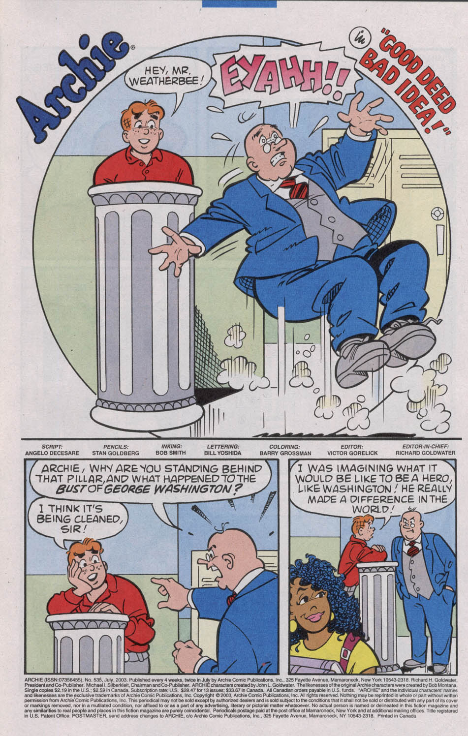 Read online Archie (1960) comic -  Issue #535 - 3