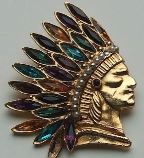 Vintage indian brooch by Butler & Wilson