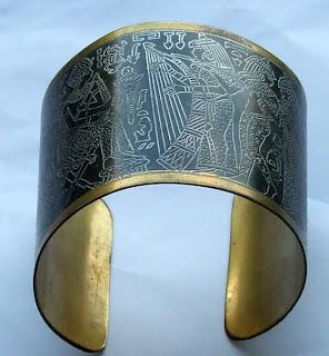 Large cuff Egyptian bangle