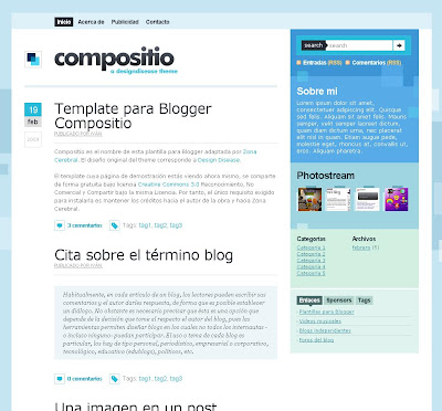 Compositio blogger theme