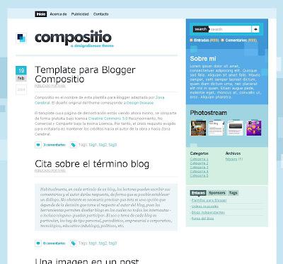 Compositio blogger theme