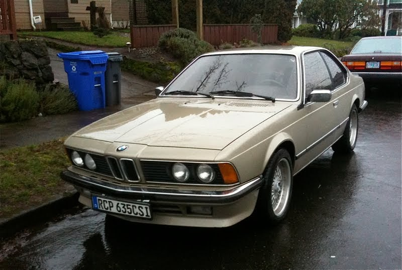 old parked cars 1985 bmw 635csi euro spec