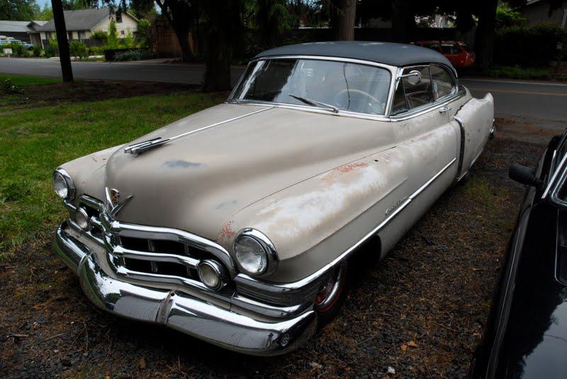 old parked cars 1950 cadillac coupe deville hardtop 2 door first generation. Black Bedroom Furniture Sets. Home Design Ideas