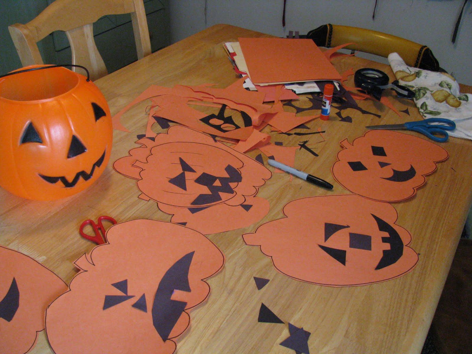 Halloween Construction Paper Crafts Preschoolers