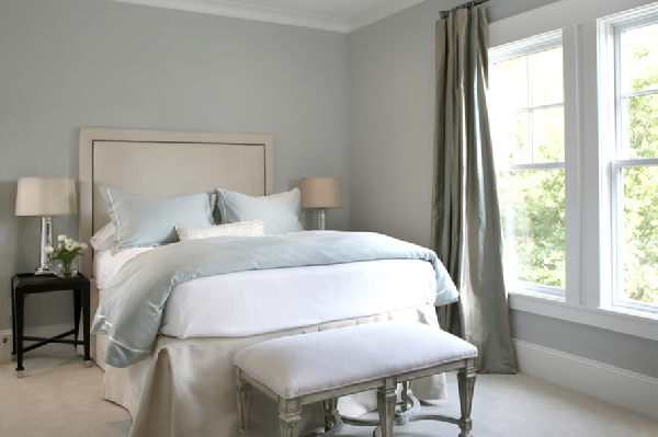 Blue Gray Paint Mineral Deposit Benjamin Moore I Like How The Curtains Are Hung My Dream Home Ideas Pinterest Colors Window And Bedroom
