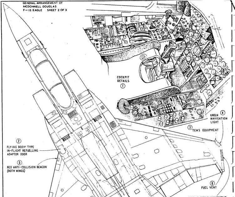 military picture: f15 fighter airplane diagram