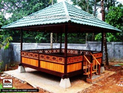 Jual Rumah Kayu Panggung Minahasa Gazebo Kayu Furniture