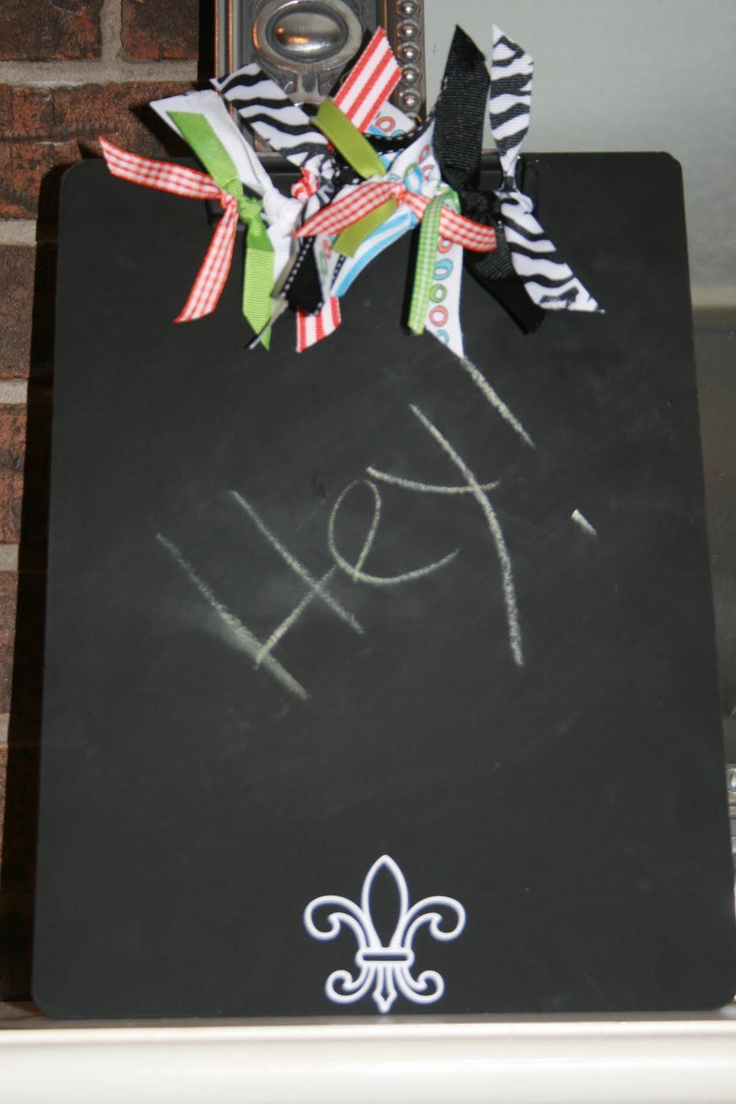 DEB'S CREATIVE ESCAPE: Fleur De Lis Chalkboard Clipboard