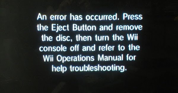 The system files are corrupted wii youtube.