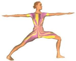 espaço shiva yoga postura 02virabhadrasana ii herói ii