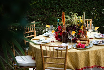 The Wedding Decorator: Spanish style table setting