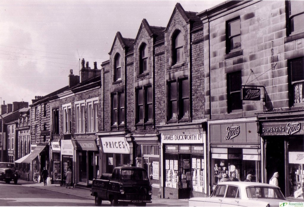 Haslingden Old And New Deardengate Shops In The 1950s