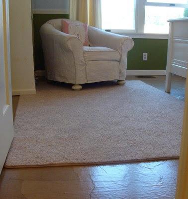 bedroom with paper flooring