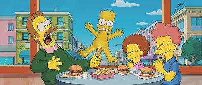 Bart simpson skateboarding naked