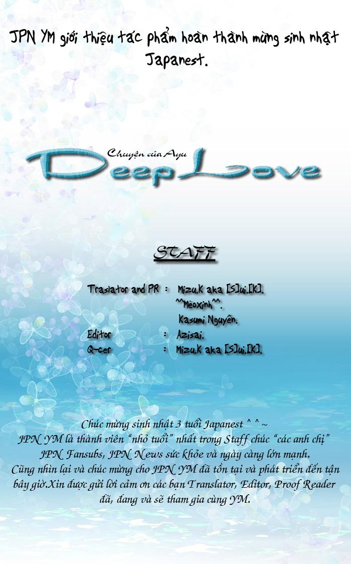 Deep Love - Ayu no Monogatari chap 6 - Trang 2