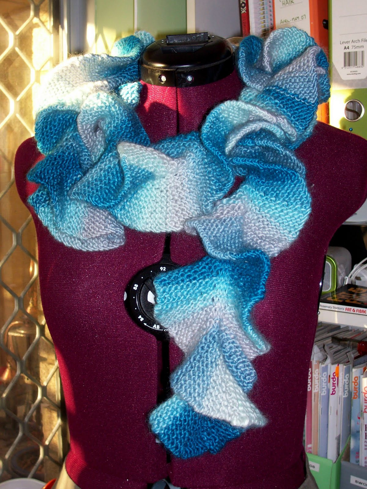 Josieloves2sew Spiral Scarf Another Knitting Project