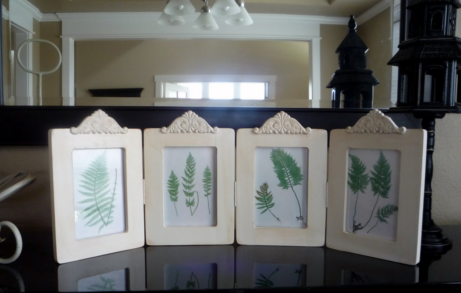592c9f50b8b We used Michaels cheapo unfinished wood frames and inserted the glass from  another cheap Michael s photo frame. Hinges and decorative wood pieces came  from ...