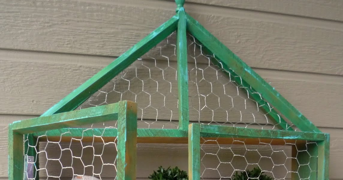 Crafty Sisters Chicken Wire Wall Shelf