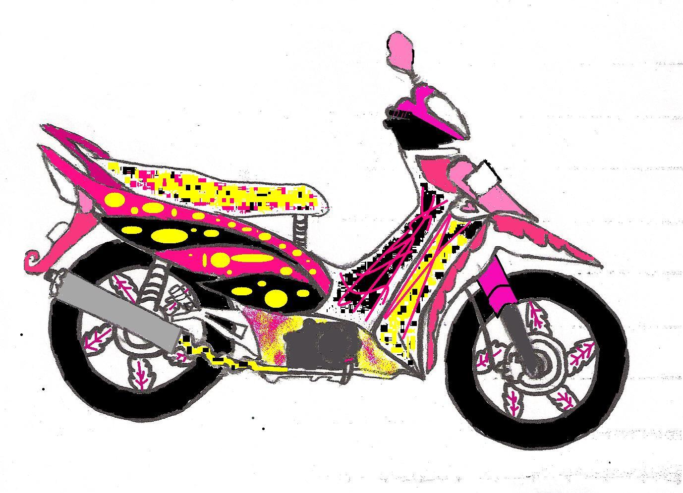 Gambar Kartun Motor Supra Galeriotto