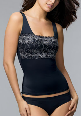 Flexees Shapewear Chic Lace Bodice Camisole Beauty Boomer Blouse Tankini