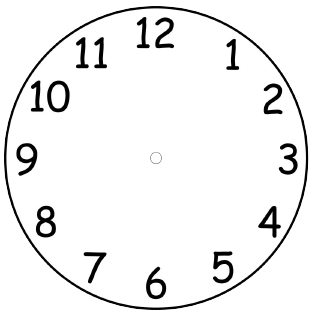 Search results for template of blank clock faces for Printable clock hands template