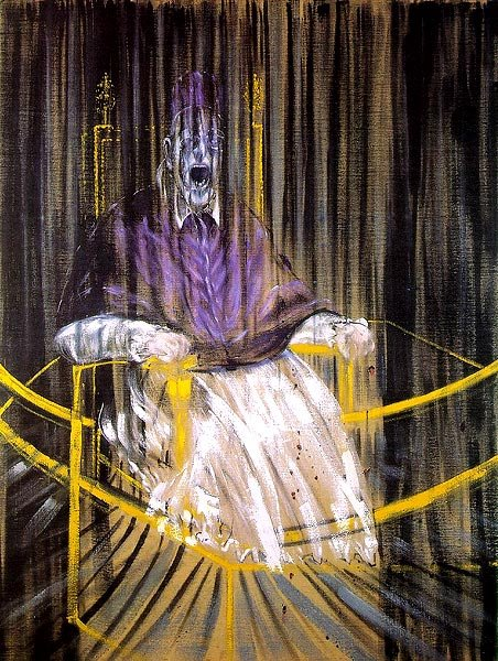 Francis Bacon, 'Study after Velazquez's Portrait of Pope Innocent X' (1953)