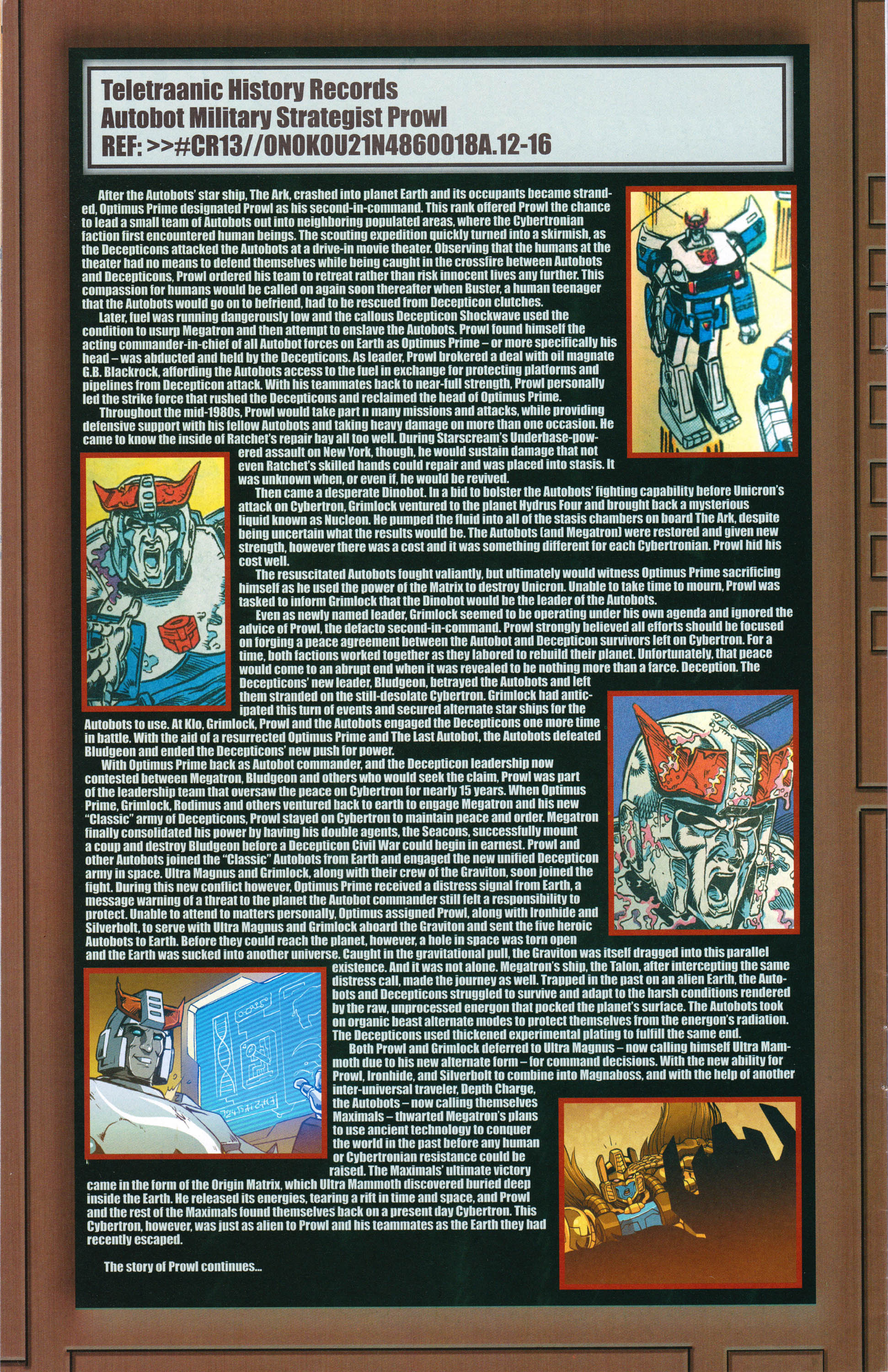 Read online Transformers: Collectors' Club comic -  Issue #62 - 14