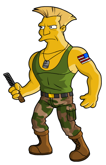 Springfield Punx Street Fighter Guile