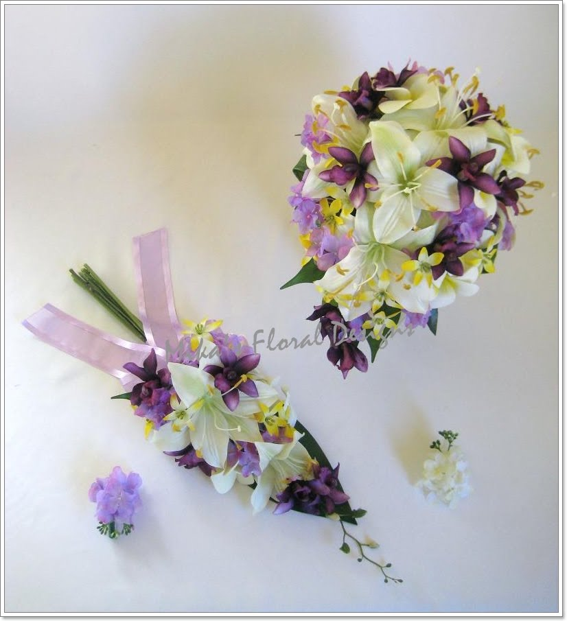 Artificial Wedding Flowers and Bouquets  Australia: Lily, Orchid and Hydrangea Bouquets and