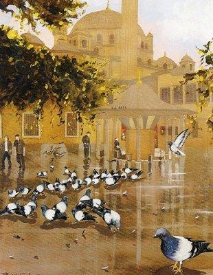 cami avlusu kuşlar ile ilgili görsel sonucu