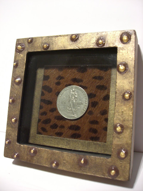 shadowbox, crafts, DIY art, art, foreign coins