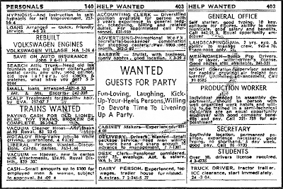 Writing help wanted ad
