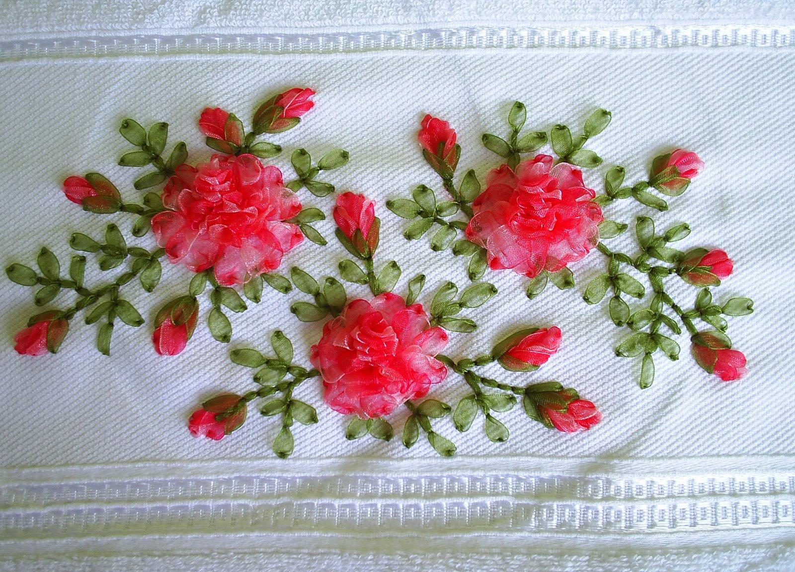 kurdele nakışı güller