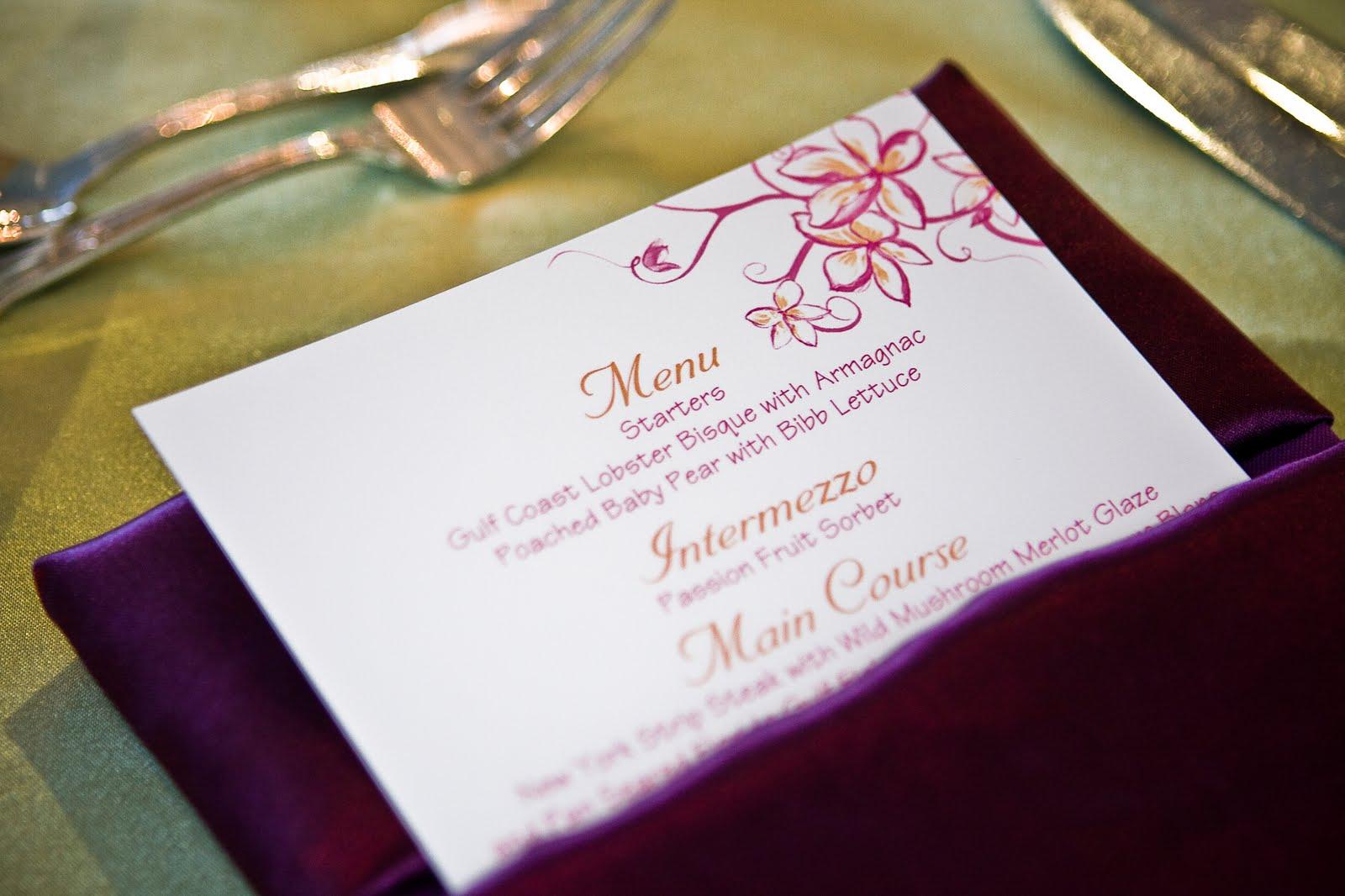 unique wedding menu card ideas