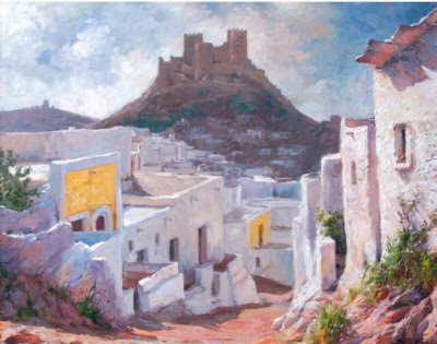 Paisajistas españoles, Paisajes de Parras Vilchez, Pintor español, Parras Vilchez, Pintores de Jaén, Pintor Parras Vilchez