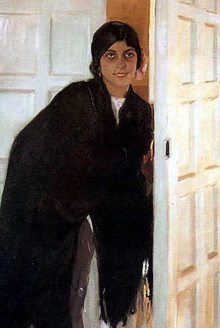 Gitana en la puerta, Joaquín Sorolla Bastida, Retratos de Joaquín Sorolla, Joaquín Sorolla y Bastida, Joaquín Sorolla, Pintor español, Retratista español, Pintores Valencianos