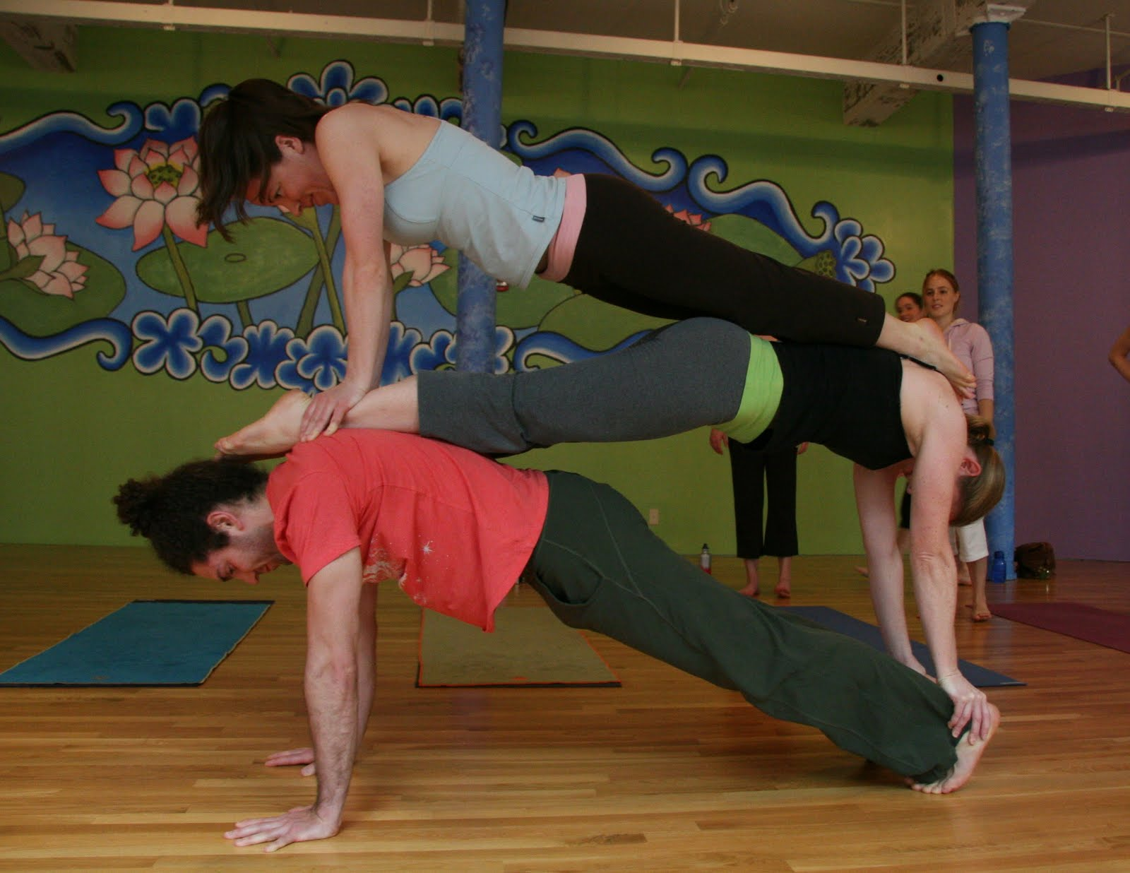 Three People Yoga Challenge  ABC News