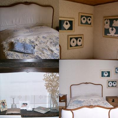 tendance home deco chambre romantique en bleu et blanc. Black Bedroom Furniture Sets. Home Design Ideas