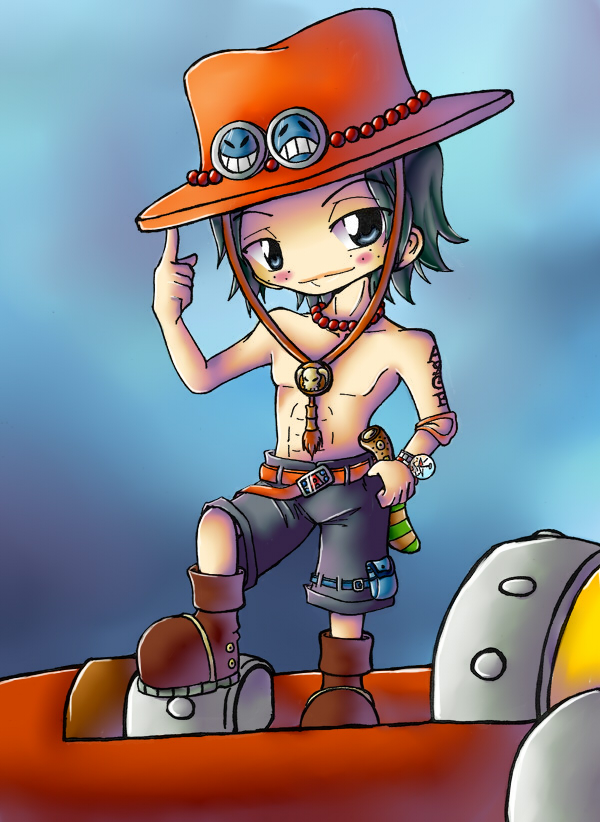 Cute But Sad Wallpaper Up To Me One Piece Portgas D Ace