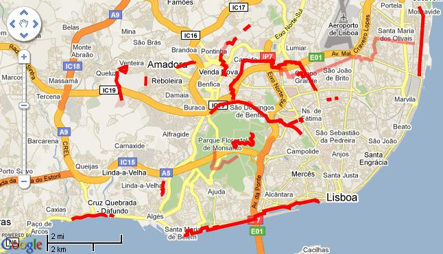 ciclovias lisboa mapa Quem Canta, Seus Males Espanta: Ciclovias ciclovias lisboa mapa