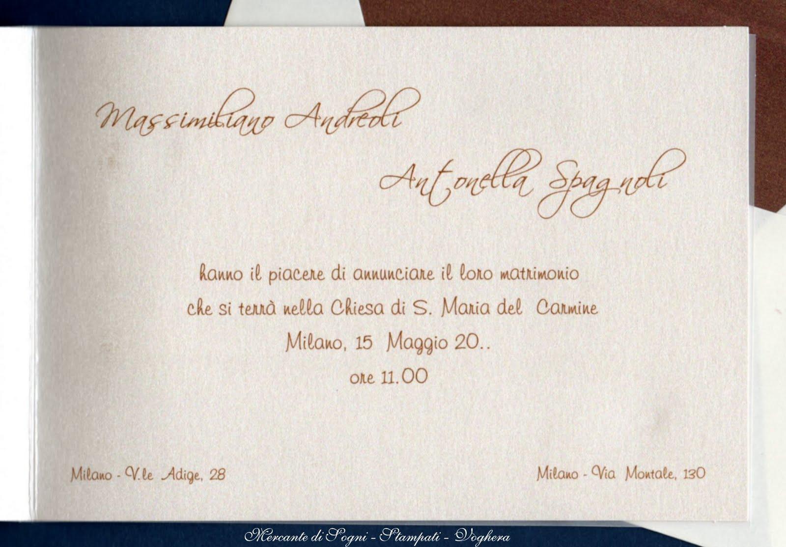 Matrimonio In Comune Quanti Testimoni : Mercante di sogni voghera stampati per cerimonia dal