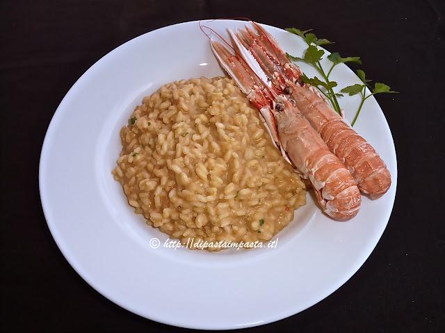 Di pasta impasta risotto alla crema di scampi for Cucinare scampi