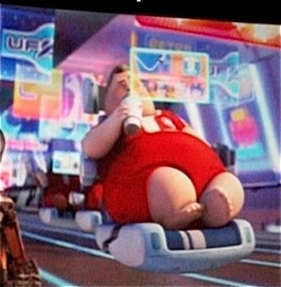 The future of humanity, as depicted by Wall-E