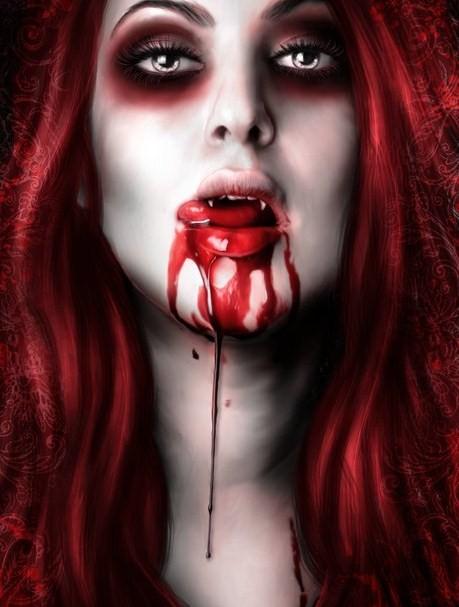 gothic vampire bloody girl - photo #38