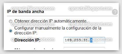 Tutorial Cambio de IP con 2Wire por CGnauta blog